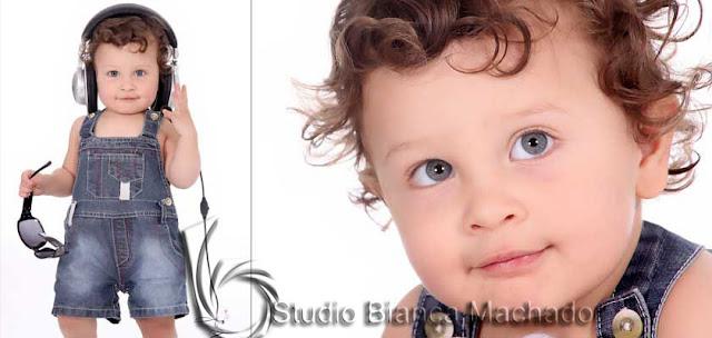 Fotos de crianca em estudio