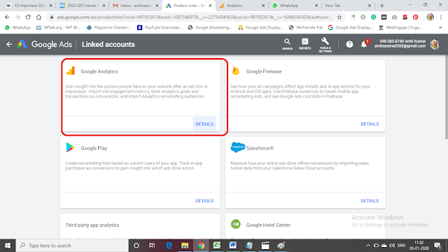 See Accept Linking of Adwords Account