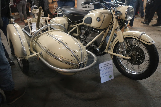 custom bmw motorcycle with sidecar at the one moto show