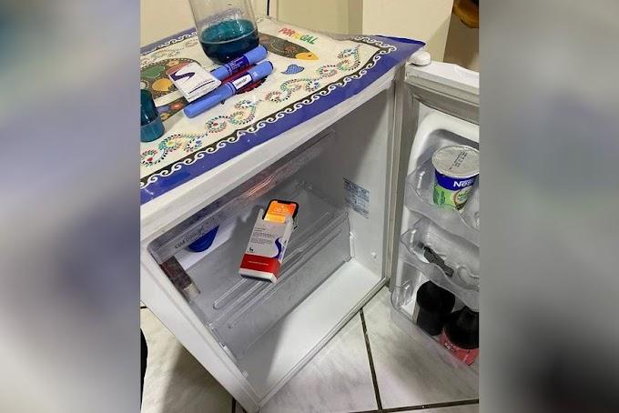 PF encontra celular dentro de caixa de remédio em frigobar na casa de deputado Wilson Santiago