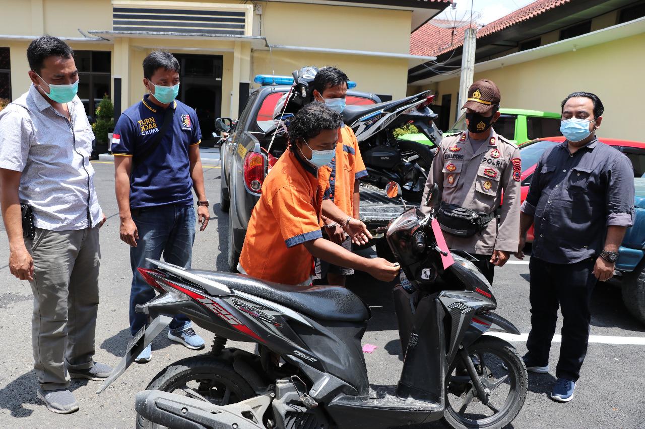 Curi Sepeda Motor di 36 Lokasi, Dua Pria ini Dibekuk Polisi di Kebumen