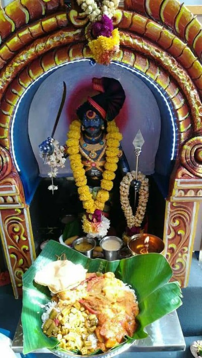 indian God image of karuppasamy