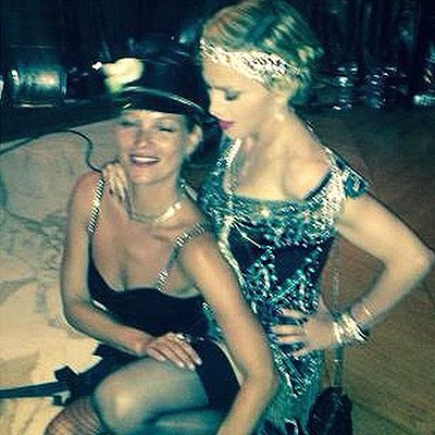 Kate Moss and Madonna