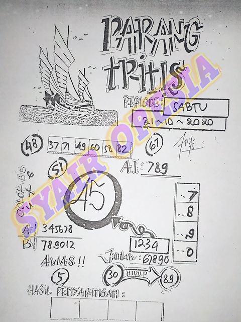 SYAIR PARANG TRITIS SGP