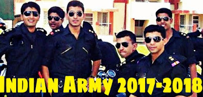 Upcoming Entries in Indian Army as Officers 2017 - 2018