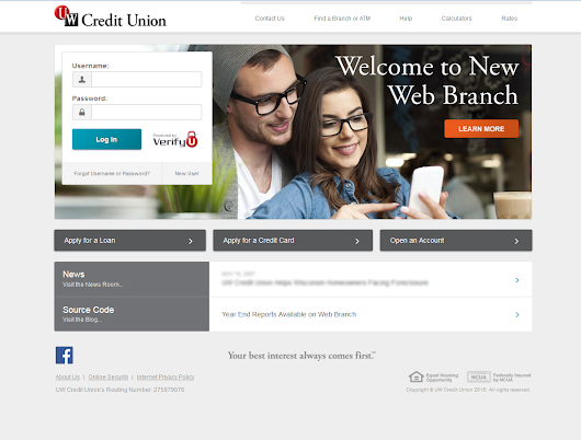 New Web Branch Log In Page