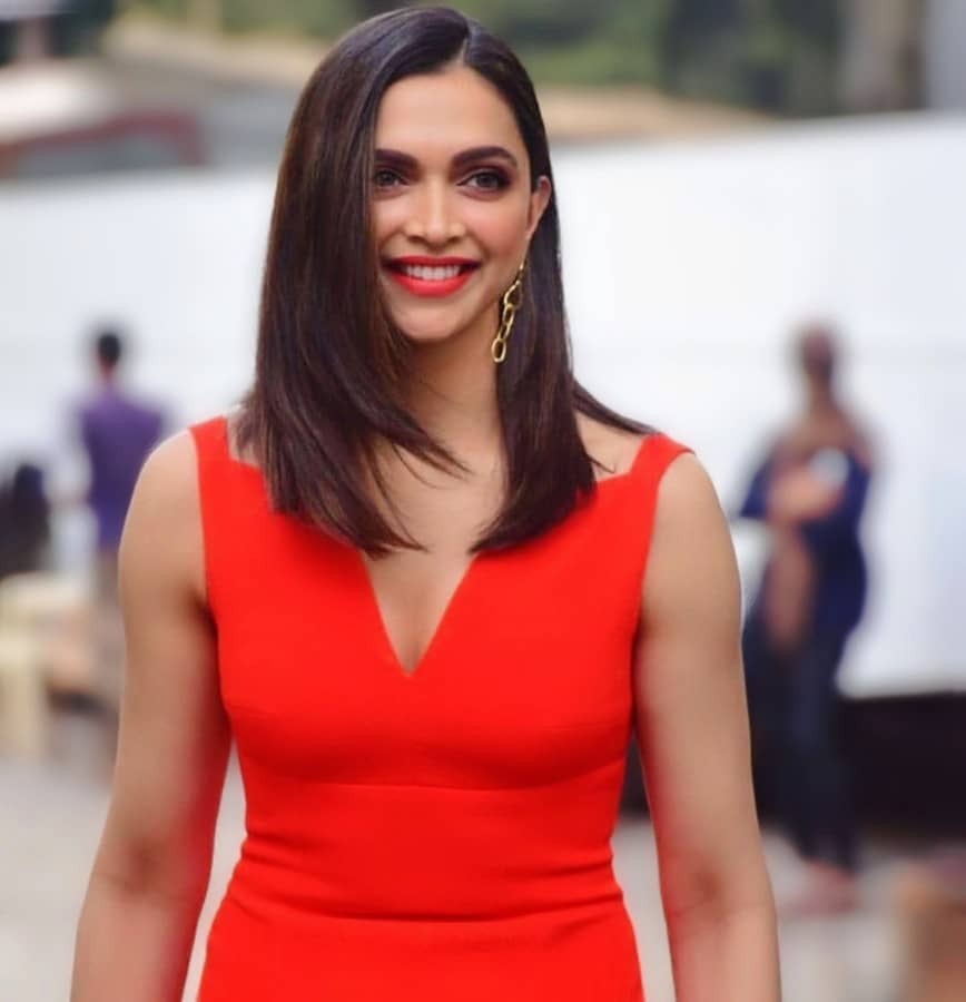Deepika Padukone, Chhapaak, Chhapaak promotions, Deepika Padukone clevage in Red Dress, Deepika Padukone latest,