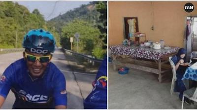 Dikira Kedai, Pesepeda ini Ternyata Numpang Makan di Rumah Orang
