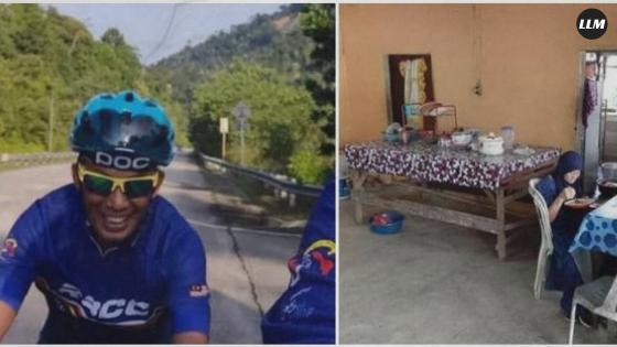 berita lucu - Dikira Kedai, Pesepeda ini Ternyata Numpang Makan di Rumah Orang