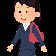 歩く女性会社員のイラスト