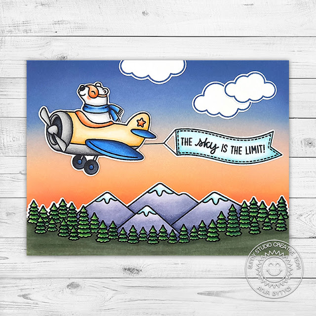 Sunny Studio Stamps: Country Scenes Plane Awesome Everyday Card by Anja Bytyqi