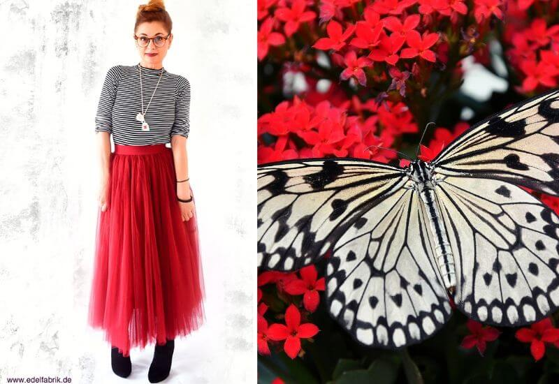 Tüllrock-Outfit-Rot-Damen