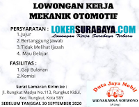Loker Surabaya di Duta Jaya Mobil September 2020