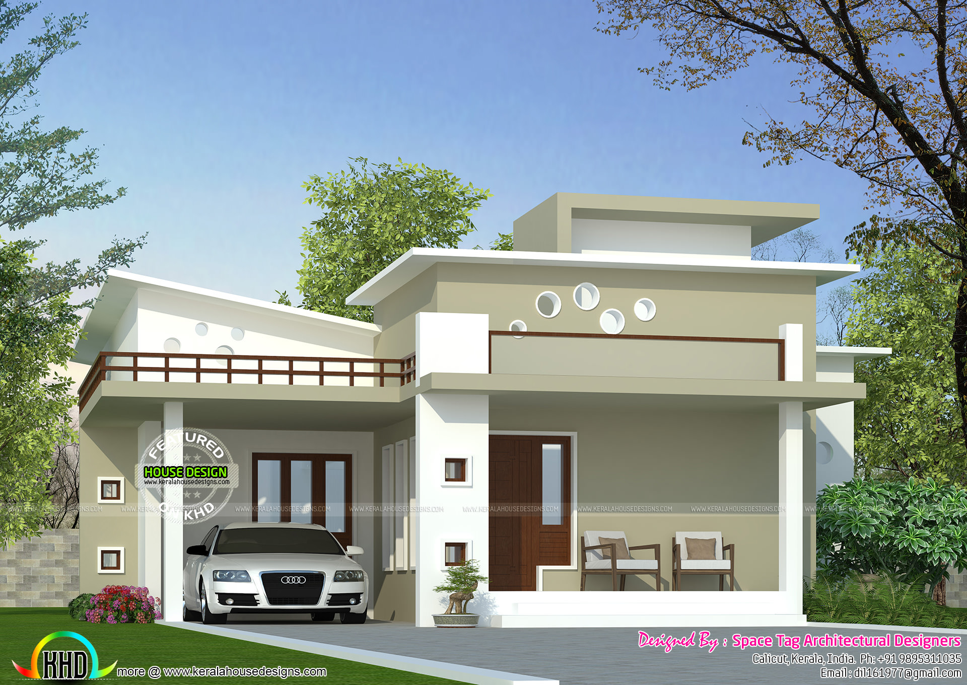 Kerala Style Low Cost Double Storied Home: Kerala Home Design And Floor