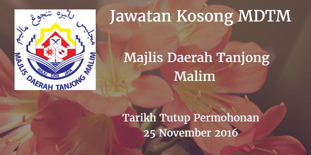 Jawatan Kosong MDTM 25 November 2016
