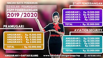 rincian biaya sekolah pramugari terbaru-2019/2020