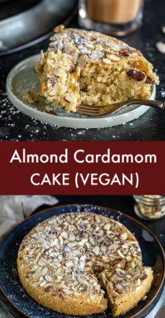 Vegan Almond Cardamom Cake