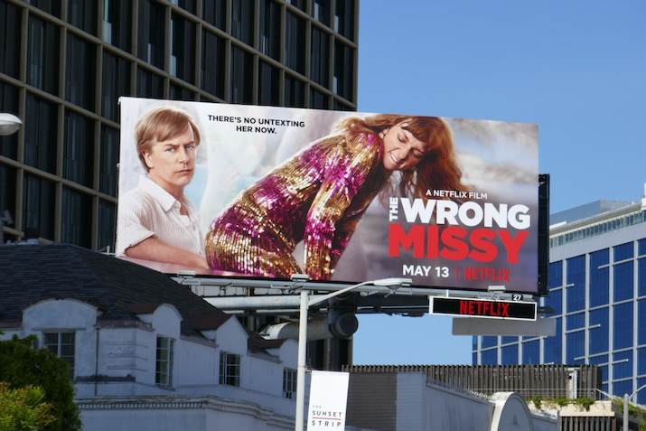 Wrong Missy film billboard
