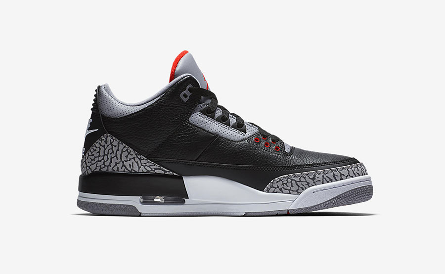 Air Jordan 3 Black Cement 2018 Photo