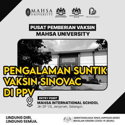 Suntik Vaksin Sinovac Di PPV Mahsa University