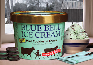 Mint Cookies and Cream Blue Bell Ice Cream