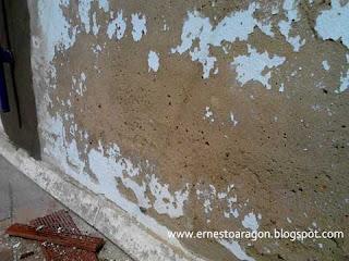 El deterioro del mortero produce humedades.