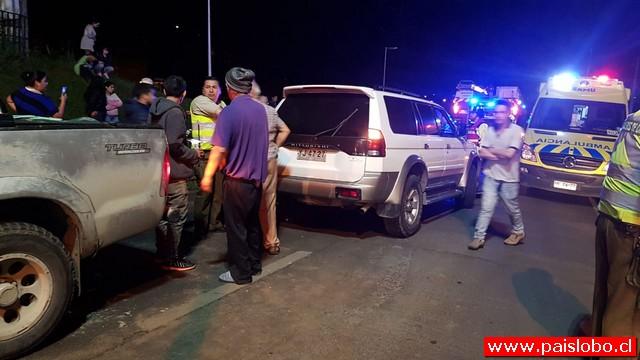 Osorno: Accidente vehícular dejó dos personas lesionadas