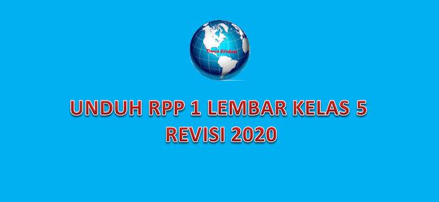 RPP 1 Lembar K13 Kelas 5