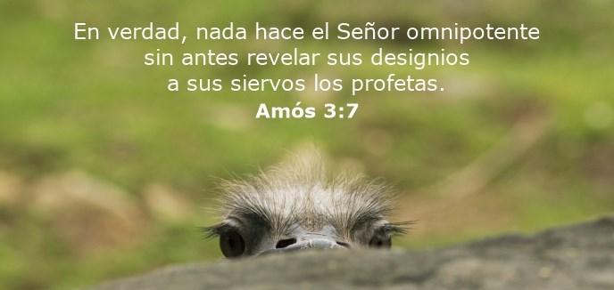 En verdad, nada hace el Señor omnipotente sin antes revelar sus designios a sus siervos los profetas.
