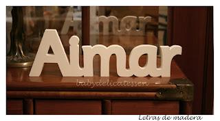 letras de madera infantiles para pared Aimar babydelicatessen