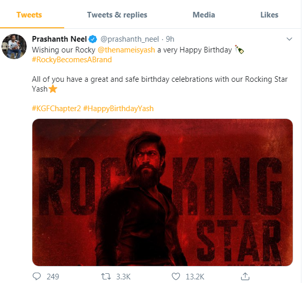 Yash birthday and makers unviel new poster of KGF chapter 2