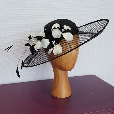 www.patouchechapeaux.com cérémonie mariage sisal fleurs de plumes