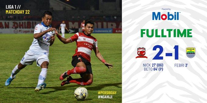 Madura United vs Persib Bandung 2-1 Highlights