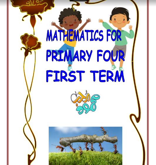 أقوى مذكرة ماث math للصف الرابع الابتدائى لغات ترم اول pdf 2022