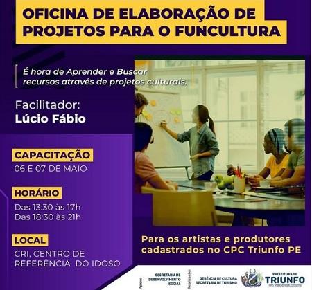 Triunfo recebe Oficina de Elaboração de Projetos para o Funcultura