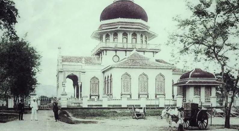masjid raya baiturrahman banda aceh tempo dulu