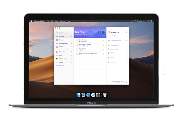 Microsoft To-Do app for macOS released