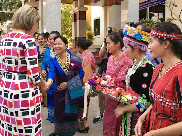 Queen Mathilde, honorary President of Unicef Belgium, is on a four days mission in Laos