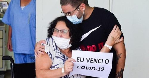 """Mãe de Yudi é curada da Covid-19 e recebe alta: """"Deus continua ouvindo orações"""""""