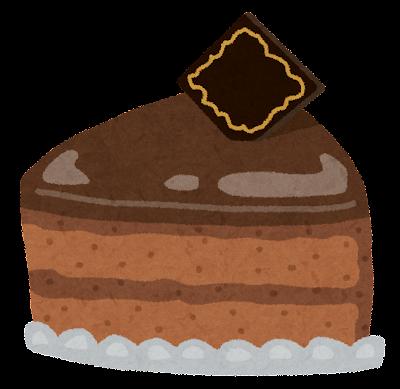 チョコレートケーキのイラスト「ザッハトルテ」