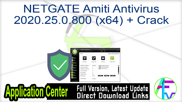 NETGATE Amiti Antivirus 2020.25.0.800 (x64) + Crack
