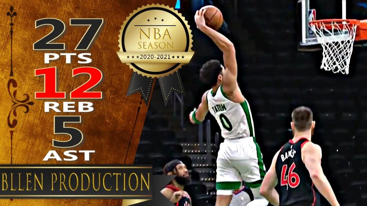 Jayson Tatum 27pts 12reb 5ast vs TOR   March 4, 2021   2020-21 NBA Season