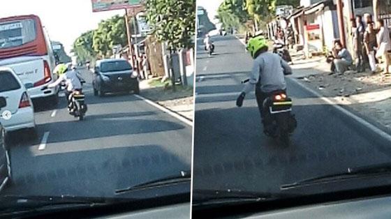 Video Aksi Bikers Buka Jalan Untuk Ambulans Ini Jadi Viral