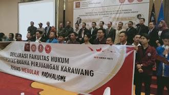 Fakultas Hukum UBP Karawang Deklarasi Tolak Paham Radikalisme