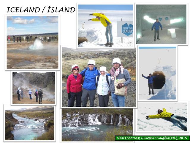 photo-collage; Iceland; family; vacation; geyser; Giorgio Coniglio
