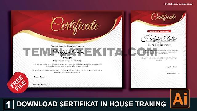 Download Sertifikat IHT In House Traning Berbagai Format Gratis