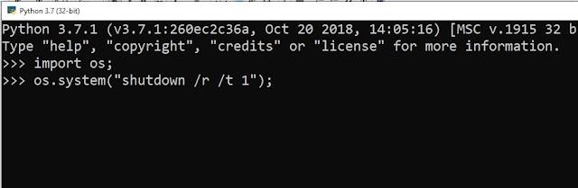 Script Python Merestart Komputer