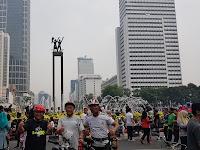 Pengalaman Nggowes Car Free Day (CFD) Jakarta bersama ABI Cycling Community