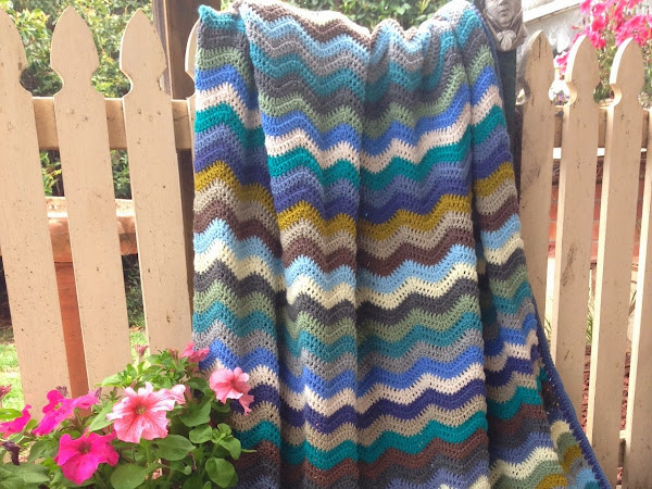 Coastal Ripple Blanket
