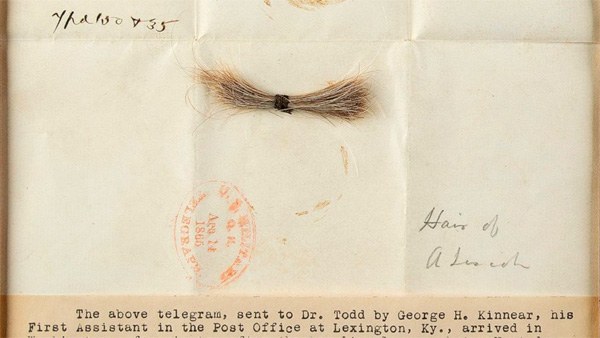 News, World, America, Boston, Abraham Lincoln, Hair, Sell, President, Death, Lock of Abraham Lincoln's hair sells for more than $81,000